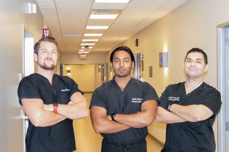 Team in black cloth